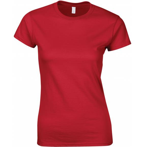 TEE-SHIRT FEMME COL ROND RED