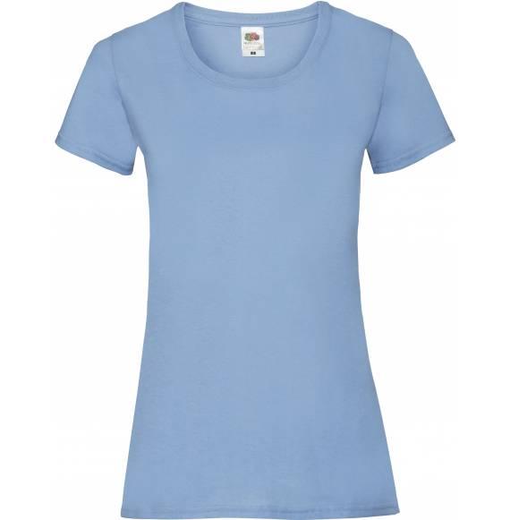 TEE-SHIRT FEMME DECOLLETE SKY BLUE